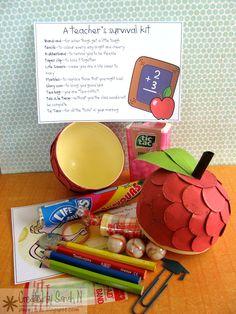 Other: Teacher Survival Kit - inside Survival Kit Gifts, Survival Kit For Teachers, Survival Bow, Teacher Survival, School Gifts, Student Gifts, Teacher Appreciation Gifts, Teacher Gifts, Teacher Stuff