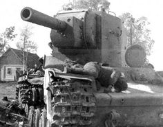 Soviet KV-2 № B-4754, was destroyed in the battle for the Ostrov city  http://albumwar2.com/soviet-kv-2-%E2%84%96-b-4754-was-destroyed-in-the-battle-for-the-ostrov-city/