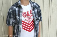 The Crafted Sparrow: Cricut Iron-on Boys Fashion T-Shirt