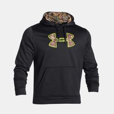 Under Armour Realtree Storm Fleece Caliber Hoodie Black Sweater Men Tall XLT #UnderArmour #Hoodie