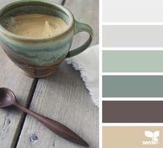 rustic tones (design seeds) More Design Seeds, Colour Schemes, Color Combos, Basement Color Schemes, Rustic Color Schemes, Dental Office Design, Color Palate, Deco Design, Cup Design