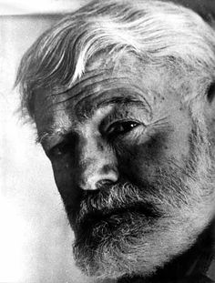 Best of all he loved the fall.  The leaves yellow on the cottonwoods.   Leaves floating on the trout streams above the hills.  The high blue windless skies.  Now he will be part of them forever.----  Today those words are chiseled into a tall, graceful marble column  and at the of the column, rests a bronze bust of Hemingway . .