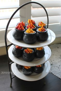 Caldron Cakes for Harry Potter birthday party