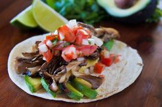 Delicious no-meat wild mushroom tacos! - News - Bubblews