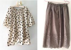 【40代後半の私が着易くて可愛いらしく、ぽっちゃりの体型を品よくカバーできる服を制作しています。画像のモデルが恥ずかしくも私自身ですが、共感頂ける方へ・・・】...|ハンドメイド、手作り、手仕事品の通販・販売・購入ならCreema。