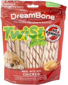 DreamBone Twist Sticks as low as $7.63! Cheese Twists, Rawhide Chews, Chicken For Dogs, Good For Her, Free Chickens, Skin Care Tools, Healthy Teeth, Dog Chews, Teeth Cleaning