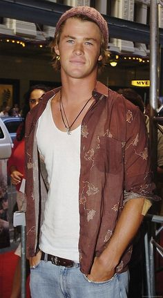 Young Chris Hemsworth in Sydney, January 2006