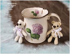 kertupertu. mini amigurumi teddies. tiny heARTs / hedwig seaver handmade ceramic