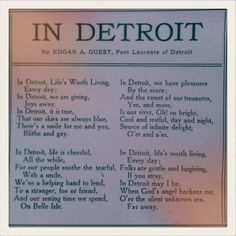In Detroit by Edgar A. Flint Michigan, State Of Michigan, Detroit Michigan, Michigan Travel, Detroit Vs Everybody, Detroit Rock City, Detroit History, Saints And Sinners, Cumbria