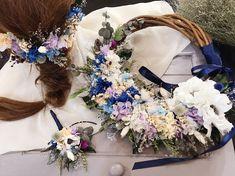 #リースブーケ #ブートニア #ヘッドパーツ #プリザーブドフラワー  #ドライフラワー Floral Wreath, Wreaths, Decor, Flower Crowns, Door Wreaths, Decorating, Deco Mesh Wreaths, Dekoration, Deco