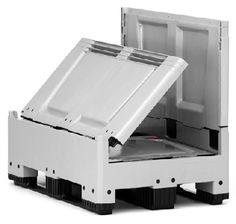 The maximum volume of the collapsible bulk containers saves time and money in transport, handling and storing.    Volume-optimized sides  space-saving when empty  low empty weight  easy to clean    Price : £199.32    Weight : 0.00 kg