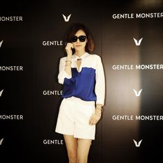 GENTLE MONSTER Opening ceremony with Korea actor & singer Jung Ahn, Chea (채정안)