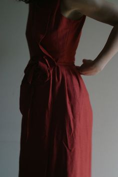 Wrap Linen Terracotta Dress Small by by NervousWardrobe on Etsy, $90.00