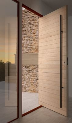 Modern Door Design Washington Park Hilltop Residence by Stuart Silk Architects Modern Entrance Door, Modern Front Door, Front Door Entrance, House Entrance, Entry Doors, Wood Doors, Front Entry, Pivot Doors, Solid Wood Front Doors