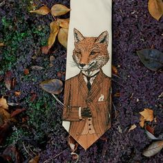 Dapper Fox Tie Taupe, $25, now featured on Fab.