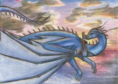 Saphira and Eragon by PuppyBleew.deviantart.com on @DeviantArt
