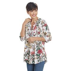6f0f4b1e4c6 Botanical Floral Tunic - Available at NorthStyle today! Shop stylish  women's fashions in a wide range of colors and sizes.