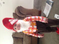 Halloween gnome cute costume toddler boy