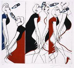 池田満寿夫 《スプリング・アンド・スプリングス》 1966年 第33回ヴェネツィア・ビエンナーレ(大賞) 京都国立近代美術館蔵