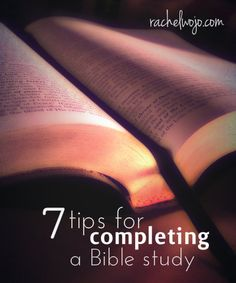 If you're like me and have started a Bible study with great intentions, only to have life get you sidetracked, then these tips are for you!