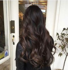 57 ideas hair color ideas for brunette balayage dark ombre haircuts - . - 57 ideas hair color ideas for brunette balayage dark ombre haircuts - color ideas for brunettes Hair Color Ideas For Brunettes Balayage, Hair Color Highlights, Hair Color Balayage, Dark Brunette Balayage Hair, Dark Brown Balayage, Dark Ombre Hair, Long Dark Hair, Chocolate Brown Hair, Brown Hair Colors