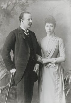 Princess Louise of Wales and the Duke of Fife, 1889 [in Portraits of Royal Children Vol.37 1888-1889] | Royal Collection Trust