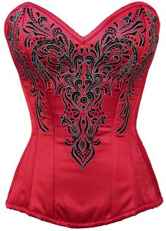 The Violet Vixen - Lady Ruby's Red Enchantment Red-Black Corset, $150.06 (http://thevioletvixen.com/corsets/lady-rubys-red-enchantment/)