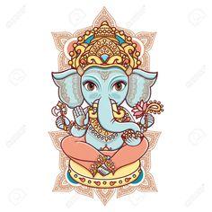 "Check out my art piece ""Hindu elephant head God Lord Ganesh. - Check out my art piece ""Hindu elephant head God Lord Ganesh. Baby Ganesha, Lord Ganesha, Indian Elephant, Elephant Head, Henna Elephant, Elephant Tattoos, White Elephant, Illustrations, Graphic Illustration"