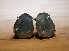 Tabasco Geode Druzy sterling silver prong setting by JPGemJewels, $126.00