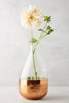 Copper foiled vase