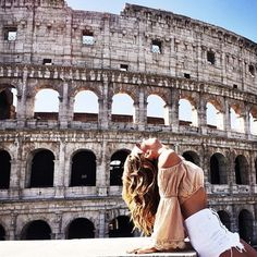 The Colosseum, Rome✔️ Travel Goals, Travel Style, Travel Fashion, Oh The Places You'll Go, Places To Travel, Travel Pictures, Travel Photos, Hotel Rome, Voyage Rome