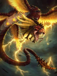 Kukulkan Typhoon by Andantonius, dragon art