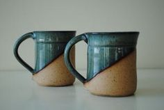 Paired Mugs by KirkwoodClay on Etsy, $40.00