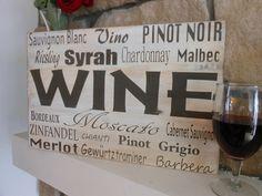 Vintage wine sign art