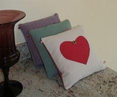 Handmade heart cushions at Country days