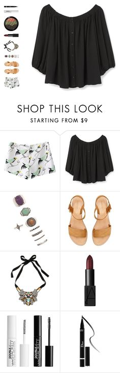"""""""like i would"""" by ouchm4rvel ❤ liked on Polyvore featuring MANGO, Forever 21, Nocturne, NARS Cosmetics, Charlotte Russe and Christian Dior"""