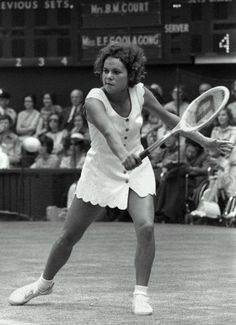 "Evonne Goolagong at Wimbledon ...... Loved watching her play and remember Evonne playing Chrissie Evert in the Wimbledon finals when Evert sent an unreachable shot down the sideline ~ Evonne turned and said... ""Great shot""!  Always such a true sportswoman!"