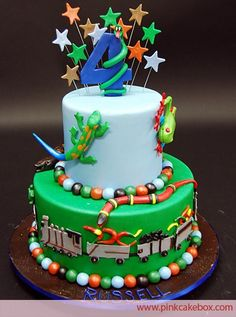 Birthday Reptile Party Cake