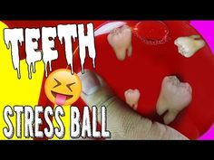 DIY | Missing Teeth Stress Ball - HOW TO MAKE A STRESS BALL!!! HALLOWEEN DIY!!!