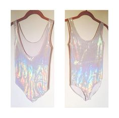 View other great ideas about Rave clothing, Raver love and Festival clothes. Festival Looks, Rave Festival, Festival Wear, Festival Outfits, Festival Fashion, Burning Man, Coachella, Holographic Bodysuit, Holographic Top