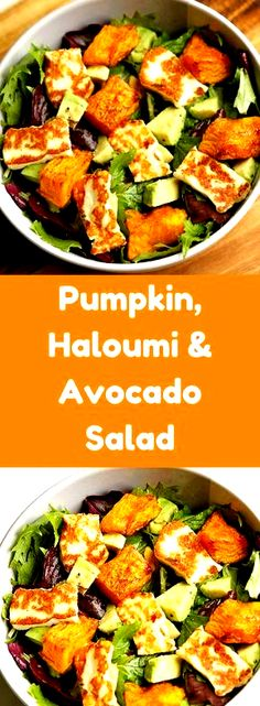 Pumpkin, Halloumi and Avocado Salad Recipe - Cook It Real Good Gone are the days of bland and boring salads! This pumpkin, halloumi and avocado salad makes for a perfect weeknight dinner - minimal effort, maximum taste. Paleo Dinner, Healthy Dinner Recipes, Dessert Recipes, Avocado Toast, Cooking Halloumi, Healthy Cooking, Cooking Recipes, Stay Healthy, Easy Cooking