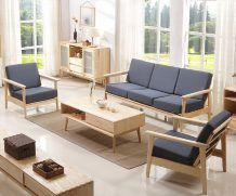 Simple Wooden Sofa Design For Drawing Room