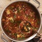 Veggistrone  --  [Yum!  But add more liquid - there's way more veggies than liquid in this recipe.]