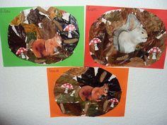 Tableau d'automne écureuil des 3 puces Lison Lilou et Liana