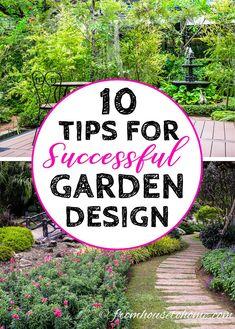 I LOVE these tips on creating a successful garden design. My backyard really needs some landscape design and I'm a DIY gal. I'm going to use these ideas to make a beautiful perennial flower shade garden in my yard. #fromhousetohome #gardendesign #gardening #gardeningtips #landscapedesign #landscaping-perennials
