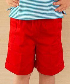 Loving this Tomato Shorts - Infant, Toddler & Boys on #zulily! #zulilyfinds
