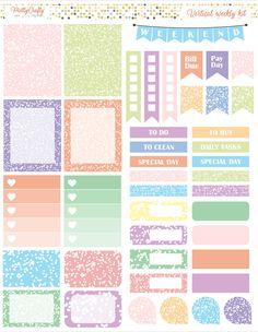 Pastel confetti weekly spread https://www.etsy.com/ie/shop/PrettyCraftyStickers?ref=hdr_shop_menu