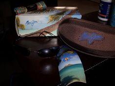 New maui jim sunglasses mj 503-2 with case box $194 sunglass mj, case box, box 194, jim sunglass