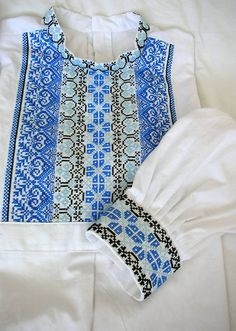 Slovak men folk shirt from region Myjava Folk Costume, Costumes, Embroidery Suits Design, Folk Embroidery, Kebaya, Cross Stitch, Blouse, Tops, Shirts