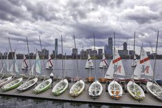 Sailing Boston and Charles River Skyline Photography